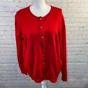LAND'S END Red Cardigan